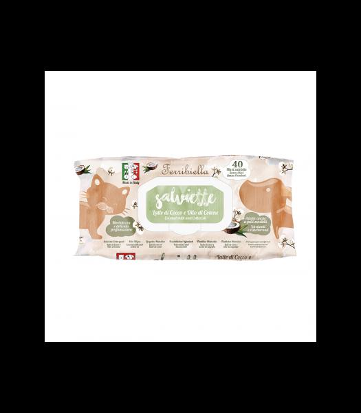 Feuchttücher für Hunde und Katzen - aus Baumwolle und Kokosöl