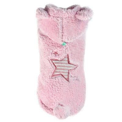 Puppy Angel Star Boa Padding Vest - Rosa