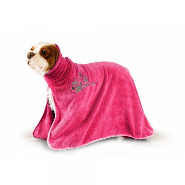 Show Tech Dry Dude - Schnelltrocknender Bademantel / Handtuch aus Mikrofaser pink
