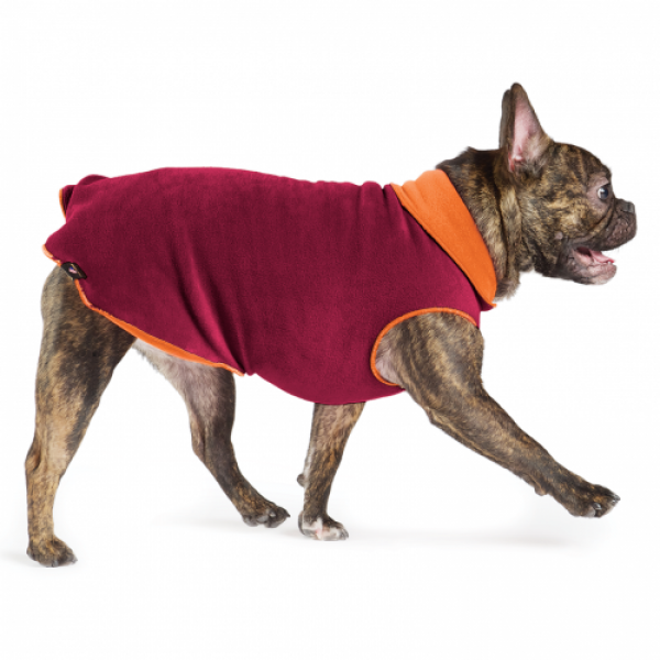 GoldPaw Stretch Duluth Double Fleece Pullover - Garnet / Pumpkin