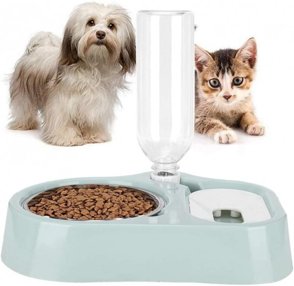 Automatische Tierfütterung 2-In-1-Wasserspender und Futterschalen für Hunde und Katzen