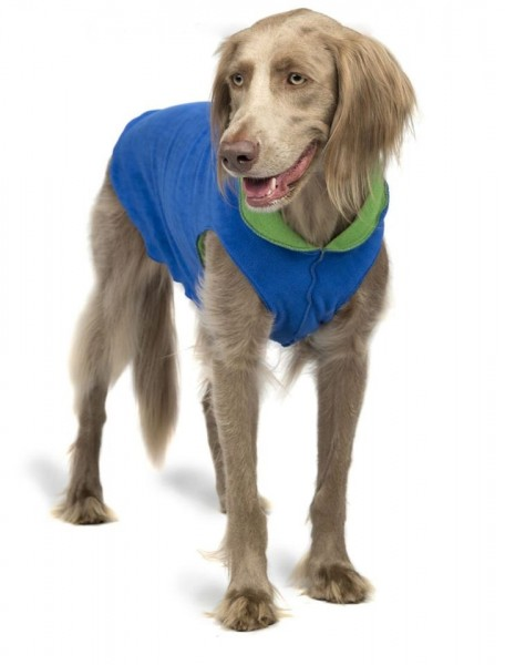 GoldPaw Stretch Duluth Double Fleece Pullover - Cobalt Blue / Grass