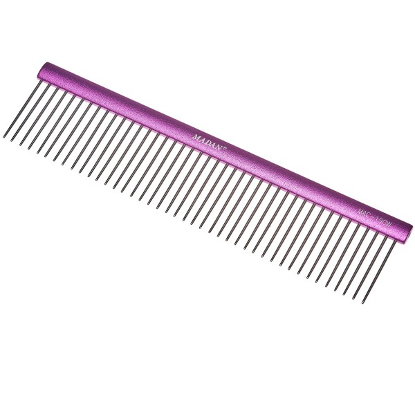 Madan Professional Light Comb 19cm - Abstand 3 mm / Stifte 3,5 cm - Purple