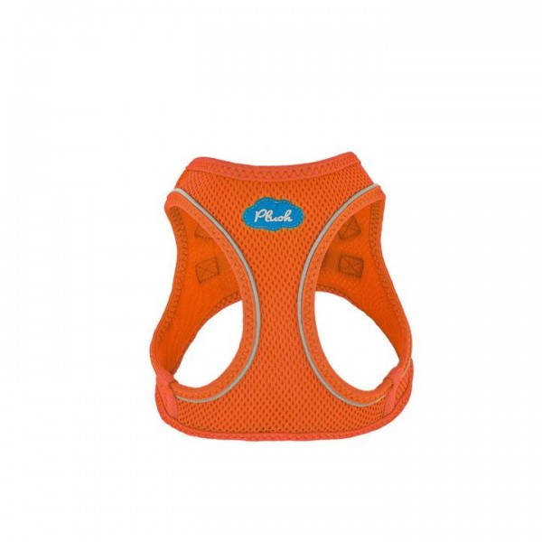 Plush Step In Air Mesh Harness - Orange