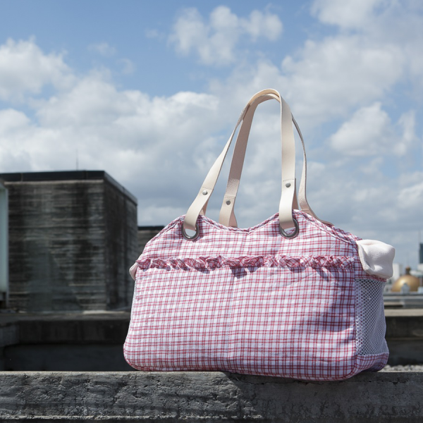 Tosho Bag/Picnic Check Red Louisdog