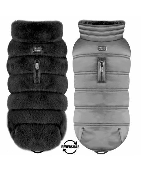 Schwarz/Grau Enya Reversible Puff Jacke