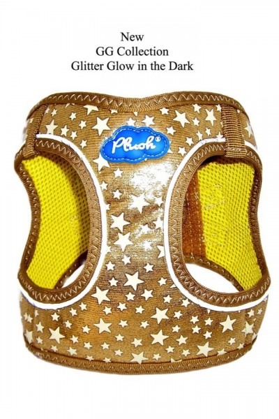 Plush Step In Air Mesh Harness- Glow & Glitter (GG) Collection / Gold