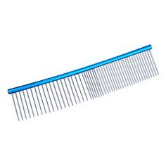 Madan aluminum grooming combs - Blue