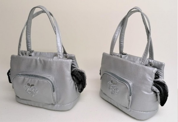 Eh Gia Heart Glamorous Bag - CreepyGrey+ Grey Black