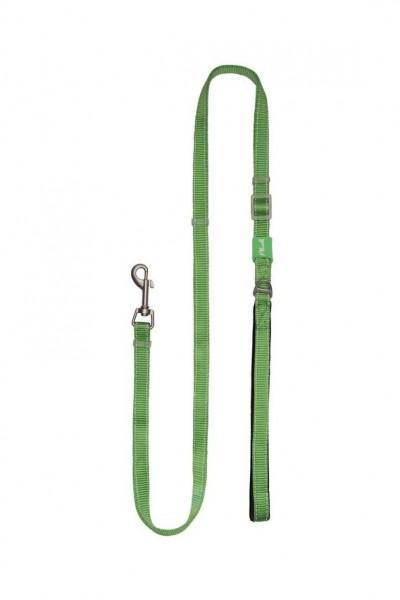 Plush Adjustable Reflective Leash - Grass Green