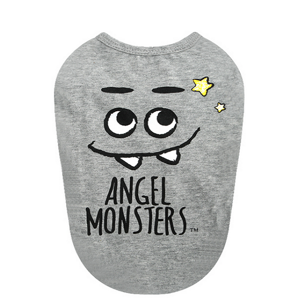 Puppy Angel Shirt Monsters in Grey