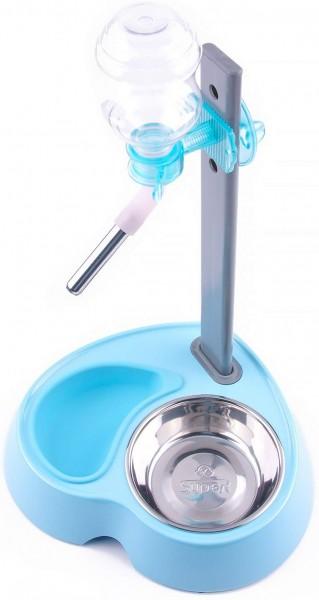 automatischer Wasserspender und Hundenapf für Hunde - Blue