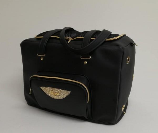 Eh Gia Eh Gia Passenger Tasche mit Zipp - Schwarz / Gold