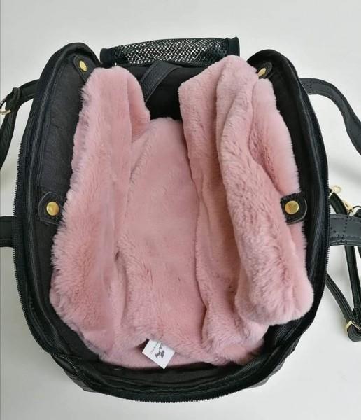 Eh Gia Traveller Bag Black + Plüsch in Puder - für alle Jahreszeiten