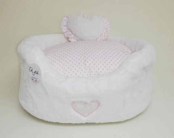 Eh Gia Bed White mit kleinem Kissen