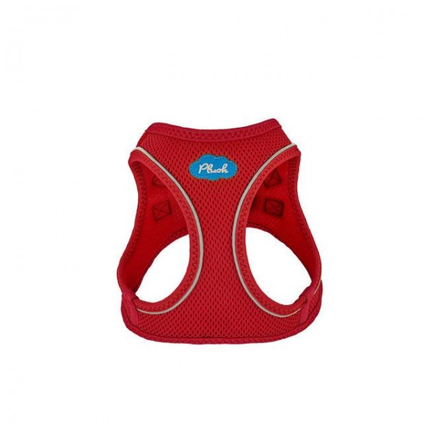 Plush Step In Air Mesh Harness - Red