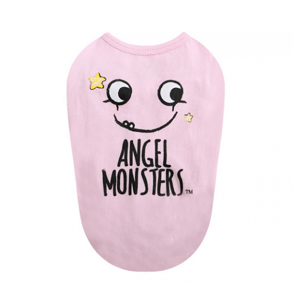 Puppy Angel Shirt Monsters in Pink