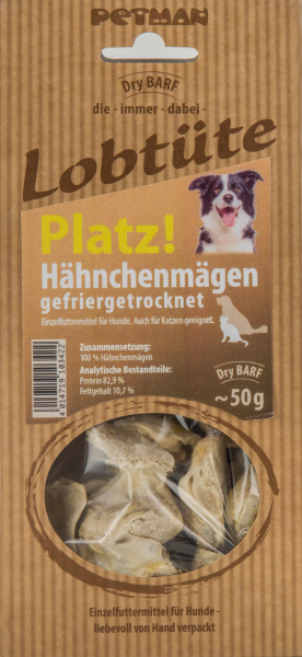 Petman Lobtüte PLATZ! Hähnchenmägen 50 g