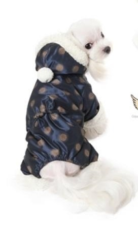 Puppy Angel Winter Overall gepunktet in Navy