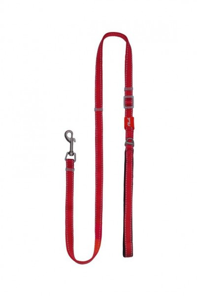 Plush Adjustable Reflective Leash - Red