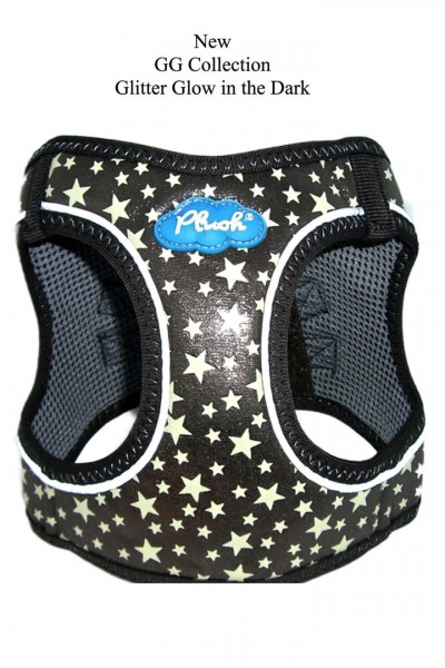 Plush Step In Air Mesh Harness- Glow & Glitter (GG) Collection / Gunmetal- Braun