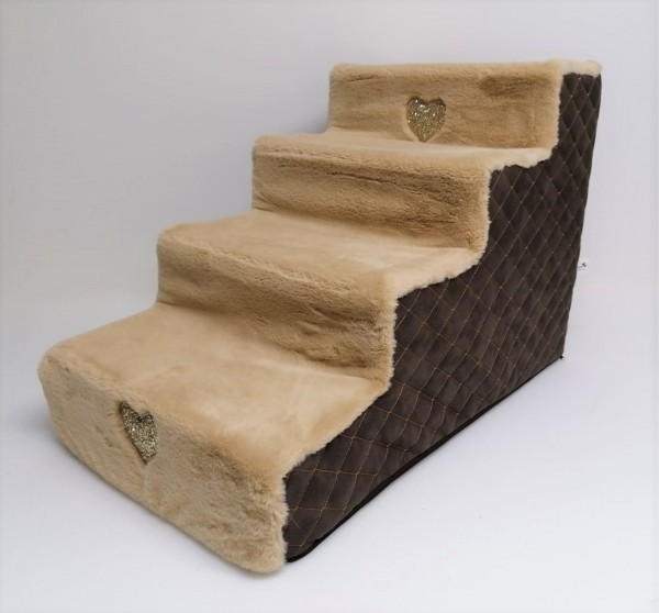 Eh Gia Stairs Heart Matelassè Choco