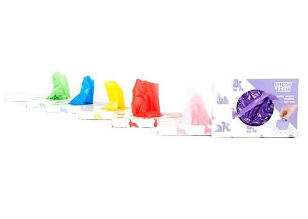Show Tech Plastic Wraps 100 Stück - wiederverwendbare Folienwickler, 15x30cm