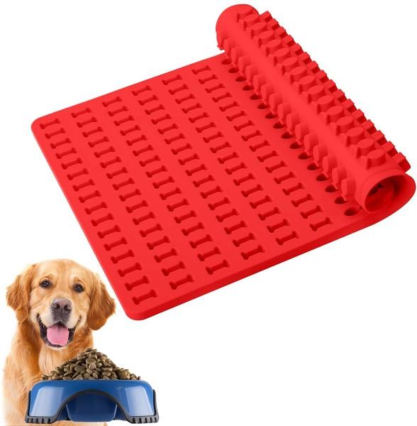 Silikon Backmatte für Hundekekse- kleine Fischchen und Knöchelchen