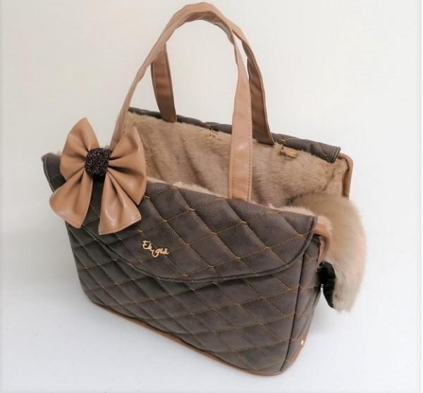 Matelasse Passenger Bag Rigid in Coco- mit abnehmbarer Schleife