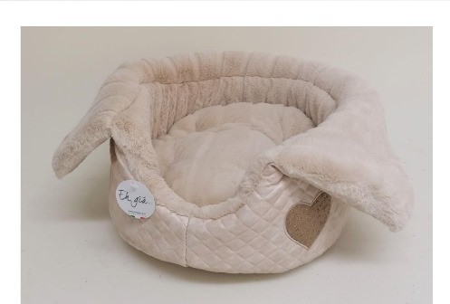 Eh Gia - Hundebett - Heart Margherite - in Teo Creme