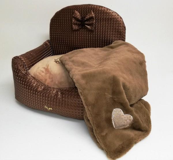 Eh Gia Blanket mit Herz Applikation in Camel