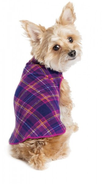 GoldPaw Stretch Fleece Pullover - Mulberry Plaid