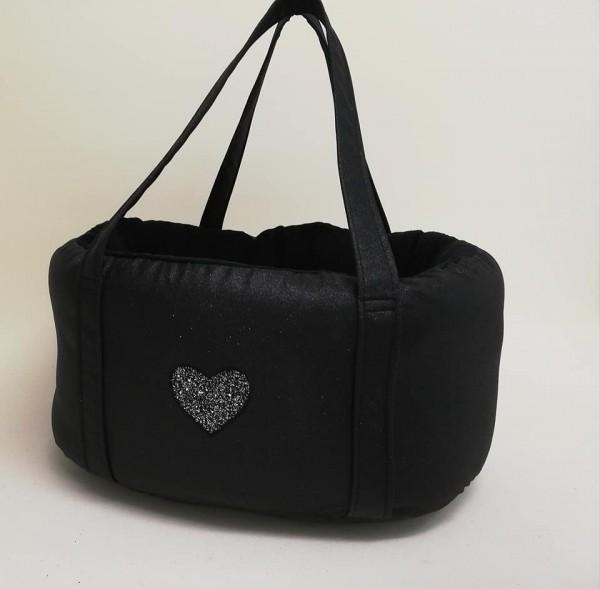 Y-Bbag mit Herz in schwarz