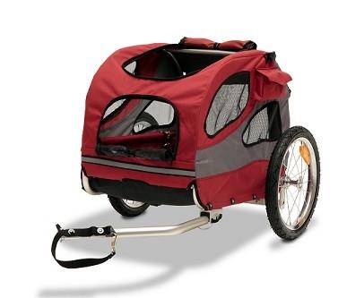 PetSafe Happy Ride Aluminium-Fahrradanhänger rot/grau