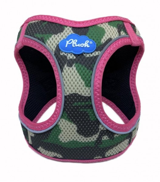 Plush Step in Air Mesh Harness / Camo - Pink