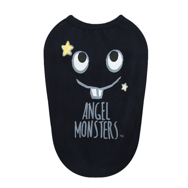 Puppy Angel Shirt Monsters in Navy