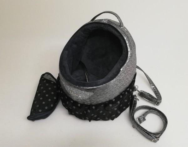 Eh Gia - Traveller Rucksack in Schwarz Silber