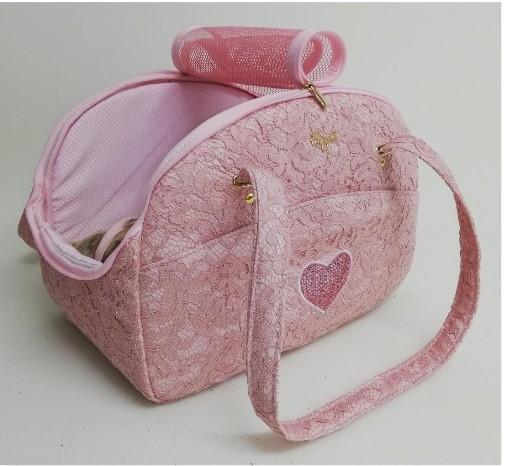 Eh Gia Traveller Bag - Antique Pink + Heart +Tigerpillow ( Tasche und Autositz in einem
