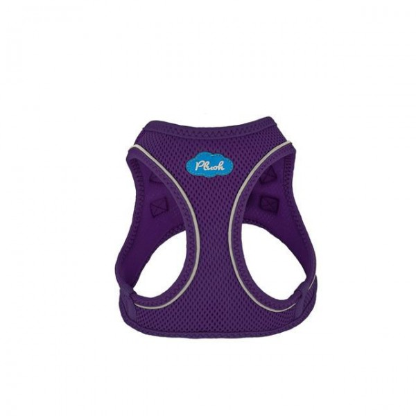 Plush Step In Air Mesh Harness - Purple