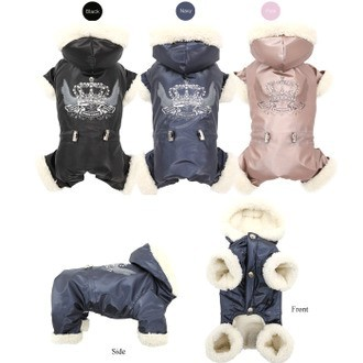 Puppy Angel Winter Overall - NEVAL Padded Bodysuit in Navy