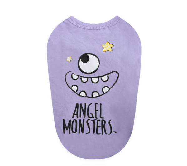 Puppy Angel Shirt Monsters in Lila