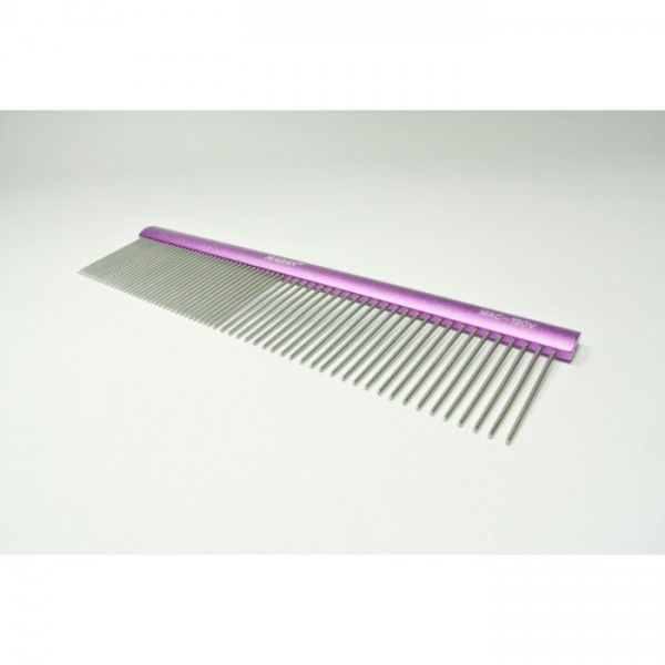 Madan aluminum grooming combs - Purple