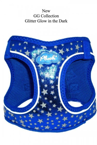 Plush Step In Air Mesh Harness- Glow & Glitter (GG) Collection / Navy