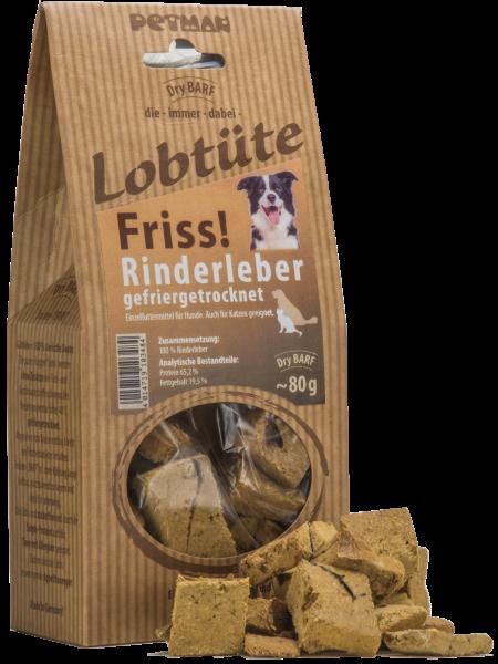 Petman Lobtüte FRISS! Rinderleber 80 g