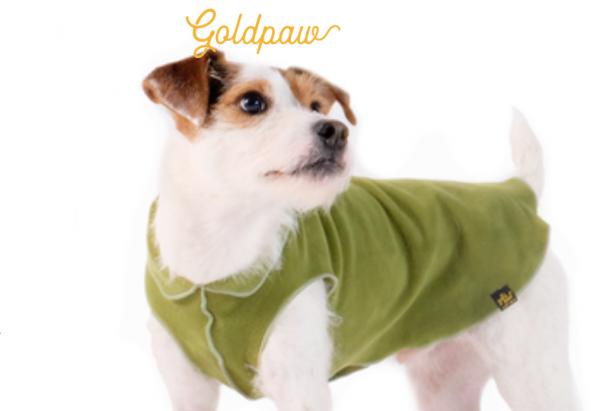 GoldPaw Stretch Fleece Pullover - Sonderfarbe - Moos
