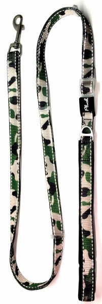 Plush Adjustable Reflective Leash - Camo