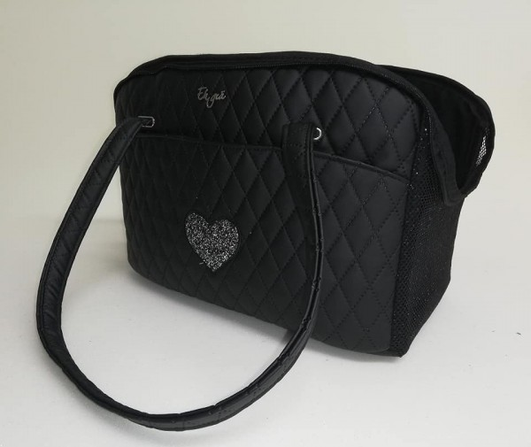 Eh Gia Summer-Life bag - Rhombus Quilted - Black