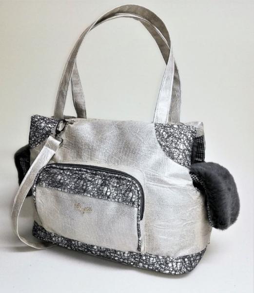 Eh Gia glamorous bag Iced+grey