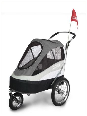 "Hundebuggy ""Sporty Trailer"" grau"