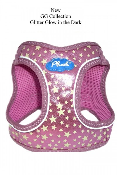 Plush Step In Air Mesh Harness- Glow & Glitter (GG) Collection / Pink
